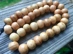 10mm Round Bone Beads, Handcrafted Cream Sun Beige Yellow Color, Native Tribal…