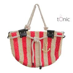 Knots, ropes, stripes, anchors... The epitome summer bag. ☀