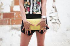 http://www.olivialehti.fi/strictly-style my outfit in altea spain yellow belle du jour clutch black shorts