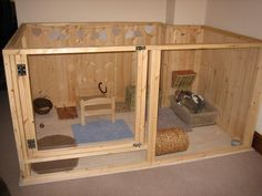 Boyles pet housing wooden rabbit pen