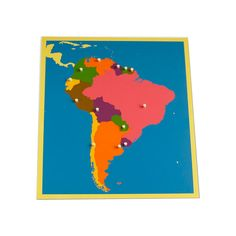 Puzzle Map of South America from Montessori Outlet