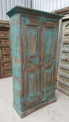 Hand Painted Furniture, Refurbished Furniture, Rustic Furniture, Vintage Furniture, Diy Furniture, Industrial House, Cupboard, Home Art, Interior Inspiration