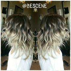 @bescene - SmokeyBrown to Ash Blonde ombre for my home girl @ninameliza! Base: 5-1,0-22,E-1 Ends:10-1,0-11,... - yrgram