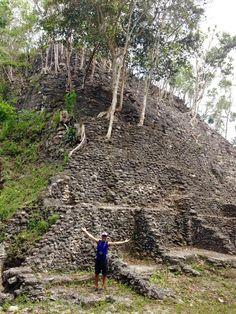 At the base of La Danta in El Mirador Guatemala