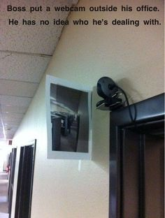 Office Pranks - And if you're being monitored yourself, show that camera what's what. | Visit gwyl.io/ for more… http://ibeebz.com