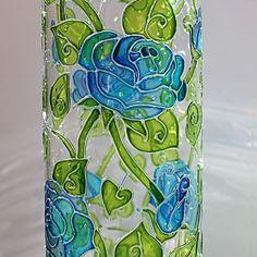Details of the Celestial vase www.etsy.com/shop/VitrolenaArt