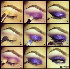 Purple & sparkles via: chrispy on instagram