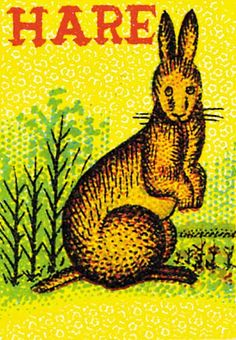 Hare (Matchbox Labels Graphic Design Art Prints)