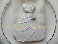 Bride Gown, see more pictures @ https://www.facebook.com/pages/NY-Cookies-By-Victoria/390369164337852?sk=photos_albums