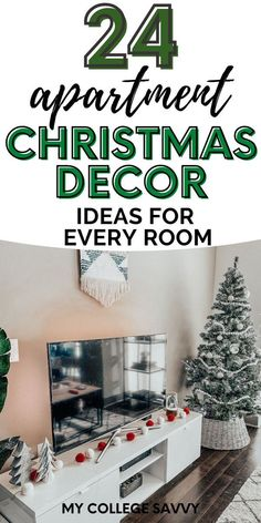 Just because you have a small space doesn't mean you can't get festive! Here are 24 ideas for small apartment Christmas decor.