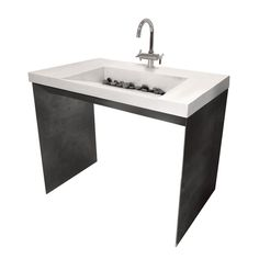 Trueform Contempo Concrete Bathroom Vanity Sink is a unique and sleek concrete sink design with metal base and is perfect for commercial or residential projects that require ADA compliance.