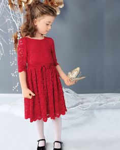 girls sweet lace party dress