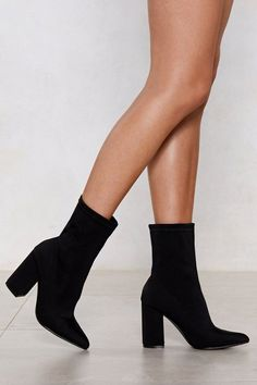 Socks And Heels, High Heel Boots, Suede Heels, Stiletto Heels, Bootie Boots, Shoe Boots, Boot Heels, Black Heel Boots, Chunky Heel Boots
