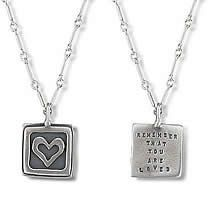 Remember That You Are Loved, Inspirational Quote Necklace Jewelry $74