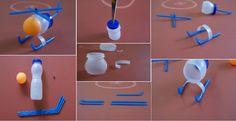 DIY Miniature Plastic Bottle Helicopter - Would be so cute for a Mini La La Loopsy