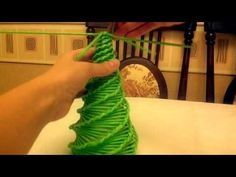 МК елки. Плетение из газетных трубочек. - YouTube