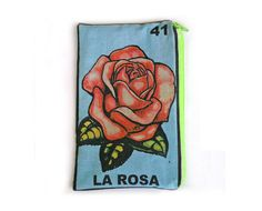 LA ROSA Mexican Loteria Makeup Bag  School by oliviafrankenstein, $13.00