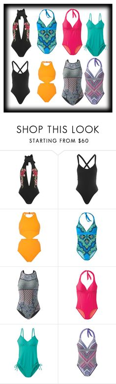 """Full bathing suits"" by pagie56 ❤ liked on Polyvore featuring Rare London, L*Space, Flagpole and prAna"