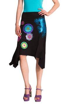 Desigual Lima Skirt Knit Skirt, Lima, Dressmaking, Women s Skirts, Black  Midi Skirt 86e5405bcbe1