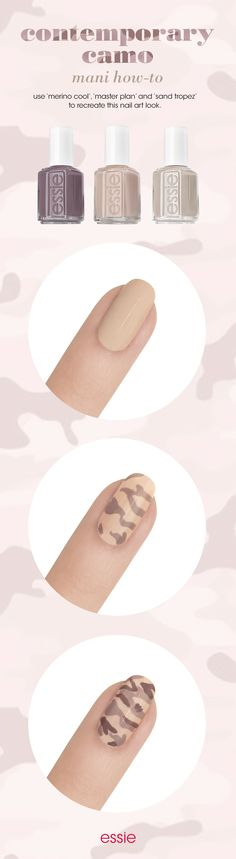 You've got your marching orders ladies. Watch this contemporary camo nail art tutorial.