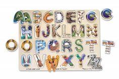 Englisches Alphabet-Bilderpuzzle