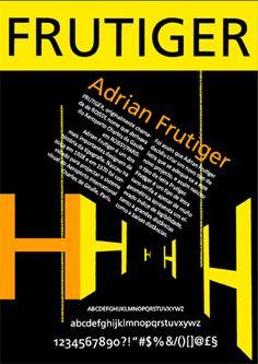 Poster Frutiger on Behance