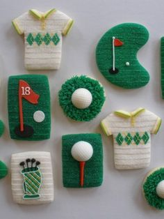 golf cookies. like the grass texture
