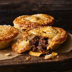 Traditional Chunky Pepper Beef Pies