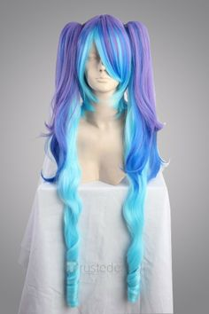 Vocaloid 2 Hatsune Miku Purple Blue Cosplay Wig $37.99- Anime Cosplay Wig - Trustedeal.com