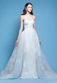 Carolina Herrera--Josifina, detachable skirt. Ballgown to mermaid.