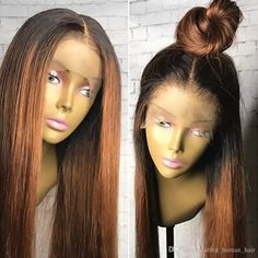 Diosa Ombre Two Tone Silky Straight Lace Front Human Hair Wigs Peruvian Virgin Hair 130 Density Bleached Knots Full Lace Wigs Glueless Human Full Lace Wig Cheap Lace Wig From Allen_human_hair, $69.87| Dhgate.Com