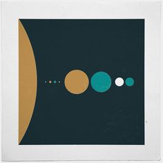#170 The solar system (sizes) – A new minimal geometric composition each day