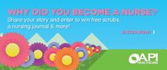 Enter your #nursing story. Win great prizes. Please repin.