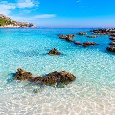 View of the day: Majorca Cala Agulla Beach on Balearic Islands in Spain. Look at that water! #tropicalviews #beachlife #beachviews