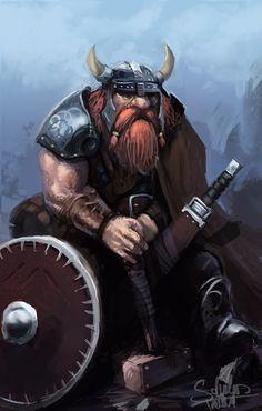 Shield Dwarf by SaturnoArg.deviantart.com on @deviantART