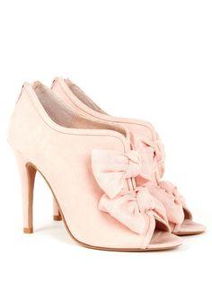 Bow bootie heels