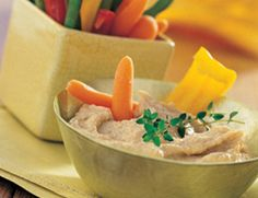 Creamy Peanut Hummus: This scrumptious spread is appealing to kids and adults alike. It's delicious served with crudites or spread on shredded cabbage, arugula or thinly sliced apples and/or red onion slices.