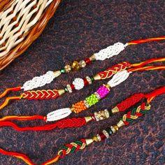 Zardosi And Pearl Beads Rakhi Combo Set Raksha Bandhan Gifts, Rakhi, Pearl Beads, Pearls, Bracelets, Stuff To Buy, Jewelry, Jewlery, Jewerly