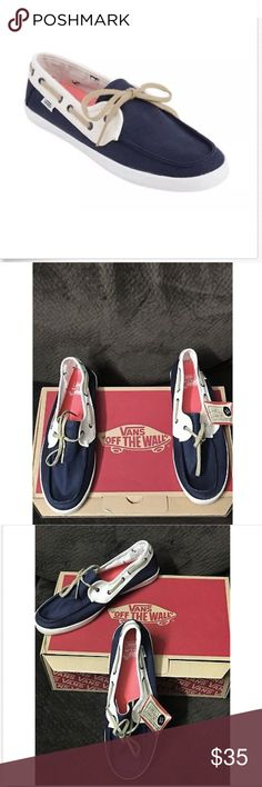Vans Off the Wall Surf Chauffette Navy Blue Canvas Vans Off the Wall Surf Chauffette Navy Blue Canvas Boat Shoes  Size Women 11 Brand new comes in replacement box Vans Shoes
