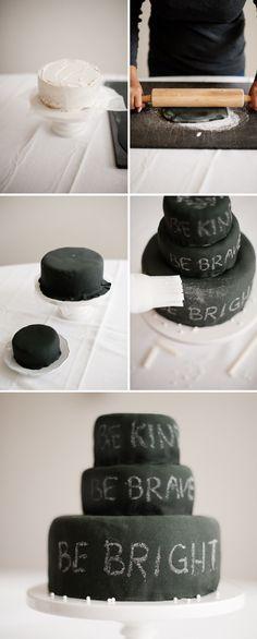 chalkboard birthday cake