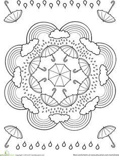 anasınıfı ilkbahar mevsimiyle ilgili mandala boyama (1)