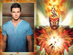 Robbie Amell  as Firestorm on The Flash TV show #moviepilot.com