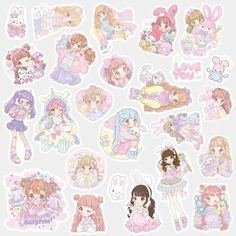 🖤 These cute stickers are perfect for scrapbooking, crafts, journals and other DIY projects. 🖤 All these stickers were not handmade by myself, I select and order these stickers from China. Anime Stickers, Kawaii Stickers, Cute Stickers, Washi, Scrapbook Stickers, Journal Stickers, Homemade Stickers, Cute Stationery, Stationary