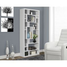 White Hollow-core Bookcase - Overstock™ Shopping - Great Deals on Media/Bookshelves