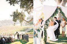 There's something about a vineyard wedding that ensures romance... Especially in California's beautiful wine region, and a satin wedding dress by Maggie Sottero!