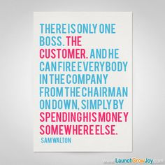 Great quote from Sam Walton