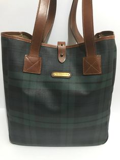 5bbf34fd02 Polo Ralph Lauren Rare Vintage Polo Ralph Lauren Tartan Plaid Green Tote Bag  Size ONE SIZE