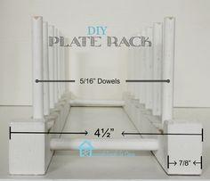 Remodelando la Casa: Easy to Build Plate Rack
