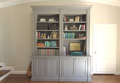 Built In Bookcase - Megan Bachmann Interiors benjamin moore chelsea gray