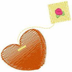 Heart Tea Bag - 4x4 | Sealed with a Stitch